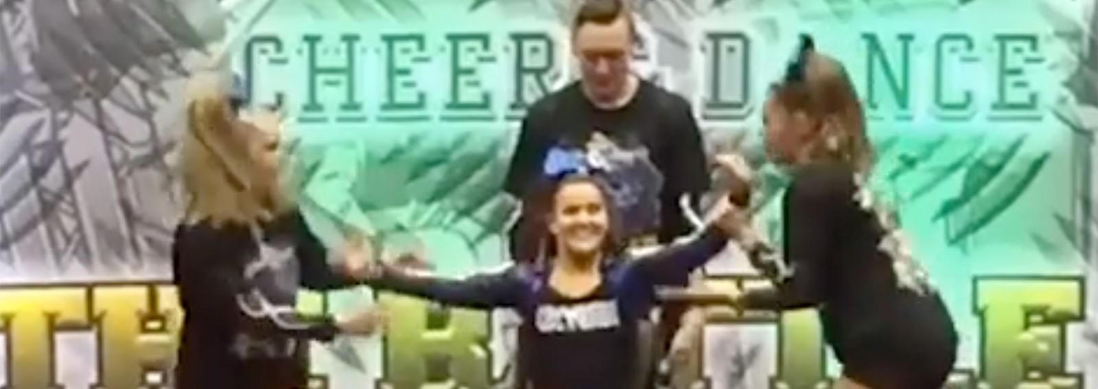 Wheelchair-bound cheerleader wows with prize-winning routine
