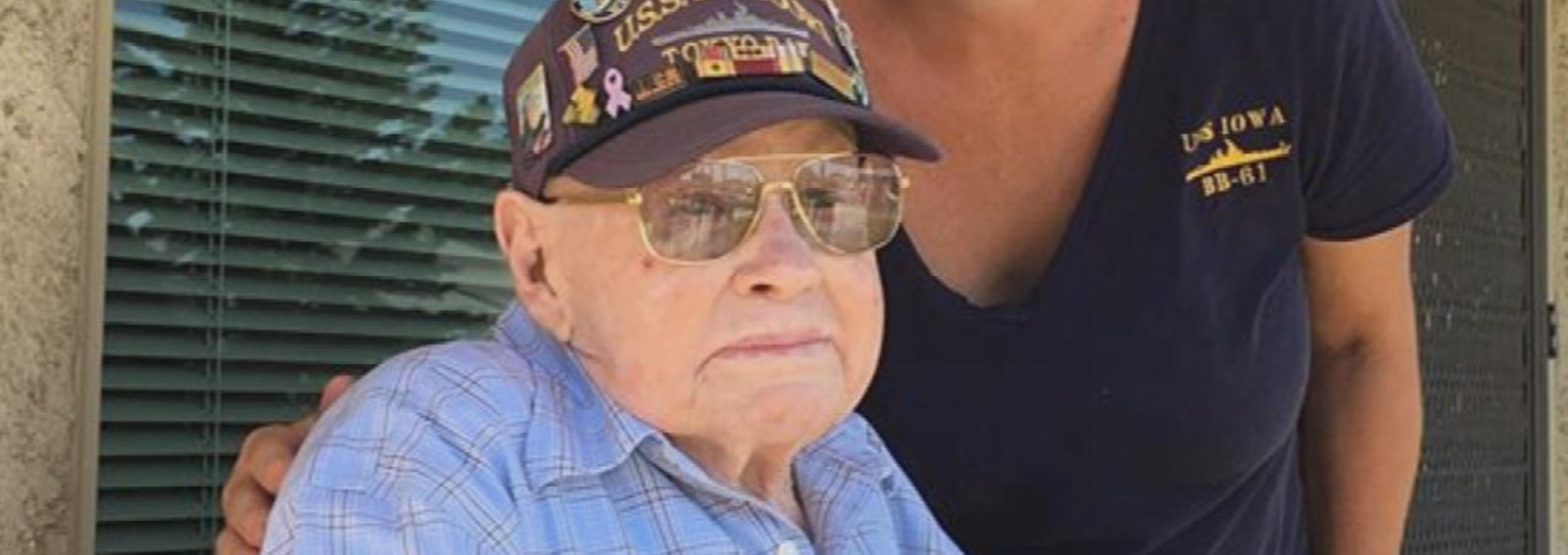 Navy sailors' special surprise for 98-year-old WWII vet brings him to tears