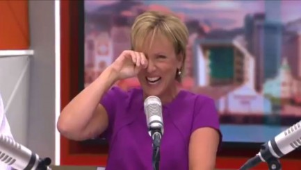 Anchor totally loses it during live broadcast