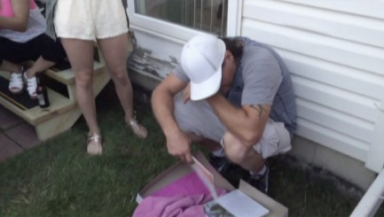 Man is brought to tears by touching gift from teen