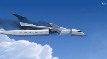 Plane concept will detach cabin before crashing