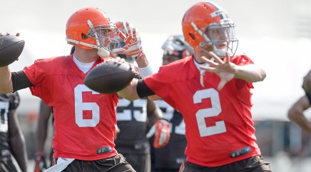 Hoyer, not Manziel, No. 1 on depth chart