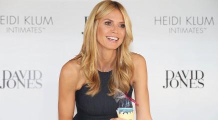 Heidi Klum strips down to her undies on TV