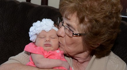 Grandmother celebrates milestone birthday by meeting her 86th great-grandchild