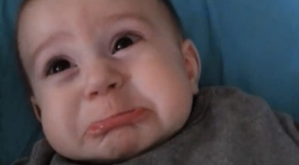 Baby has heartbreaking frown every time mom says 1 word