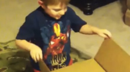 Boy has best reaction to unlikely 'present'