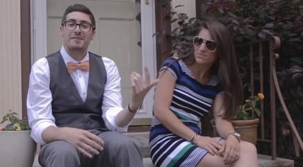 Couple's funny bridal party rap