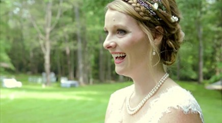 Bride receives loving wedding day surprise