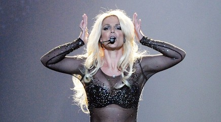 Britney Spears' Woody Woodpecker impression