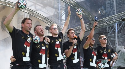 Party time for Germany's soccer team
