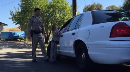 6-year-old boy with leukemia apprehends 'suspect' while serving as police officer for the day