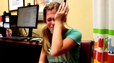 14-year-old girl breaks down in tears after hearing her mom's voice for the very first time
