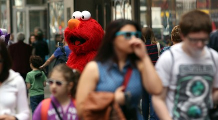 Times Square costumed characters face tough times