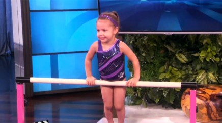 3-year-old gymnast wows crowd with incredible moves