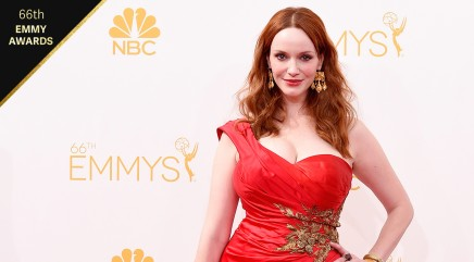 Christina Hendricks stuns in red at Emmys