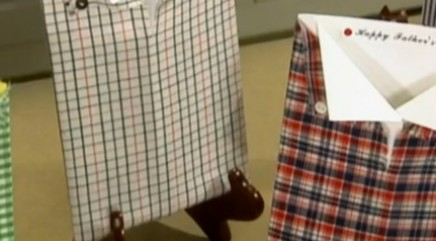 How to make collared shirt Father's Day cards
