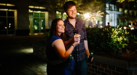 Lucky woman wins private fireworks show