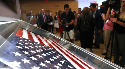Iconic 9/11 flag that was missing for 15 years returns to New York