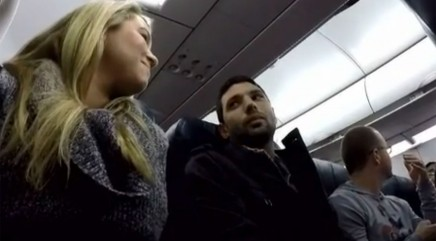 Pilot's special announcement brings tears to man's eyes