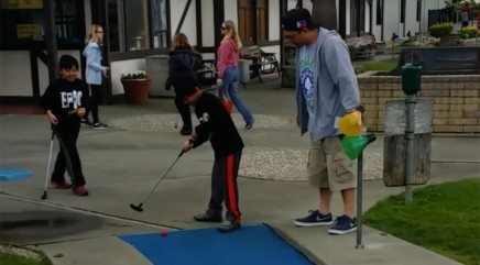 Little golfer's next move will make you cringe