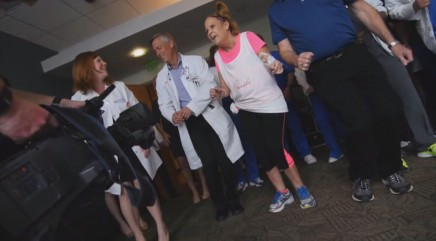 Vivacious grandma busts a move following lung transplant