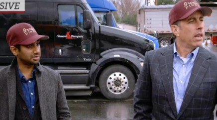 Seinfeld and Ansari bond with truckers