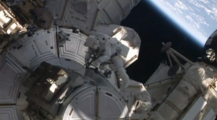 NASA astronauts take an unexpected spacewalk