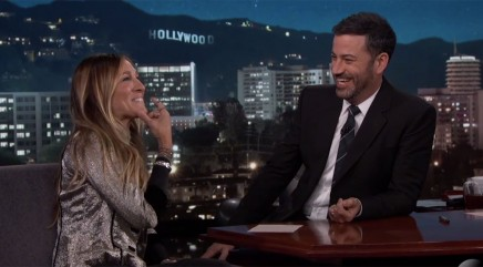 Sarah Jessica Parker gets flustered by Jimmy Kimmel's joke