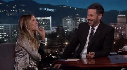 Sarah Jessica Parker gets flustered by Jimmy Kimmel's joke