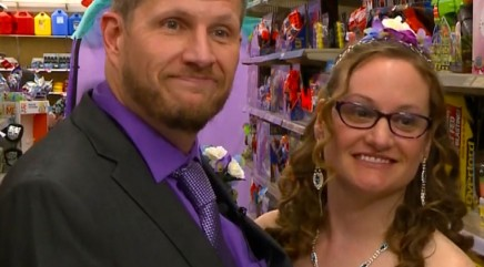Couple ties the knot in a very unlikely place