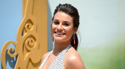 Lea Michele gets caught without her pants