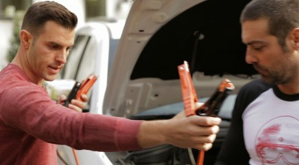 Learn how to jump start a car and change a tire