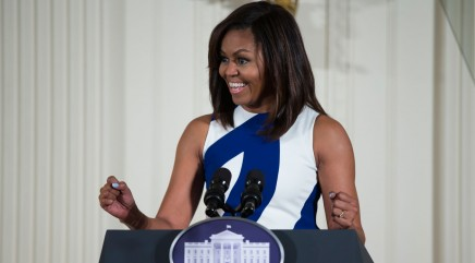 Little girls give the First Lady advice