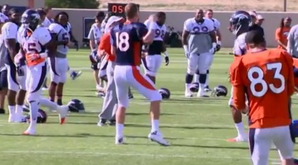 Peyton Manning gets into the groove