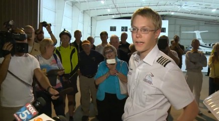 Teen pilot sets a world record