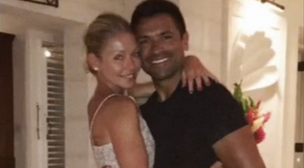 Kelly Ripa shows off wedding dress she wore again for 20th anniversary trip with husband Mark Consuelos