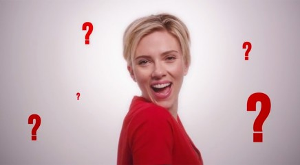 Scarlett Johansson teams up with Barry Manilow and Jimmy Kimmel to write a song to help fight AIDS