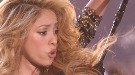 Shakira's smoochy lips don't lie