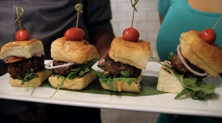 Make a scrumptious bacon blue cheese slider