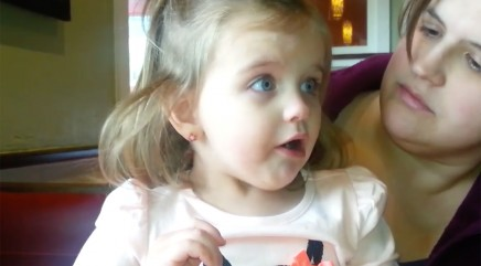 Little girl has cutest reaction to spicy food