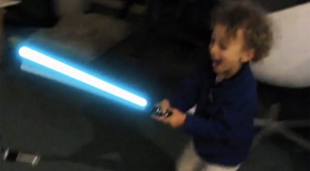 Kid has heated 'Star Wars' battle with unlikely 'enemy'