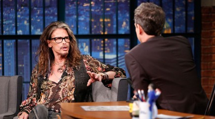 Steven Tyler's adorable interview companions turn heads