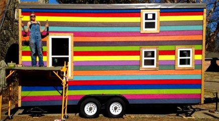 Inside look at tiny colorful 175-ft. house will wow you