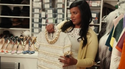 Mindy Kaling visits the Vogue closet