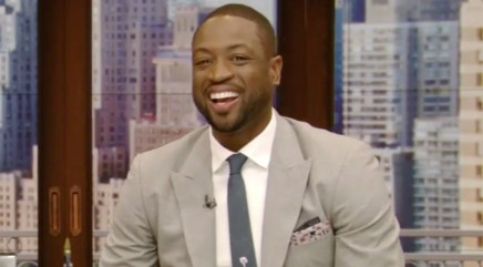 NBA star Dwyane Wade cracks up after Kelly Ripa gives him a special surprise
