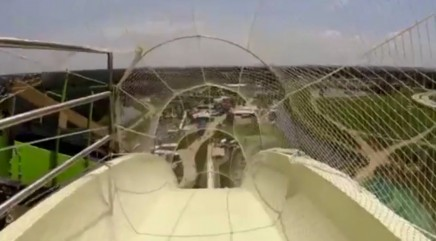 Take a trip down the tallest water slide