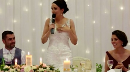 Bride stuns groom with creative wedding surprise