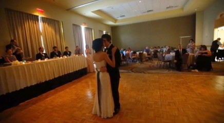 Newlyweds stun wedding guests with original 'first dance'