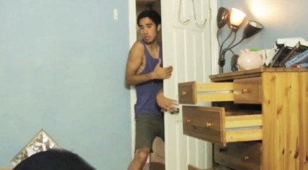 Viral video star uses video magic to clean his room