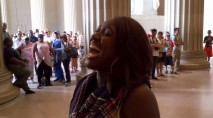 Tourists stop in their tracks to hear woman's incredible rendition of 'Star-Spangled Banner'